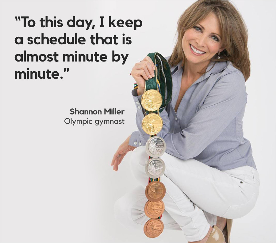 three things successful people have in common shannon miller quote